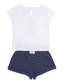 Baby girls printed t-shirt & short set