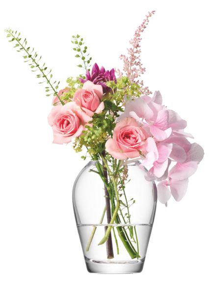 LSA Flower mini bouquet vase height 9.5cm in clear