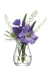 Flower mini posy vase height 9.5cm in clear