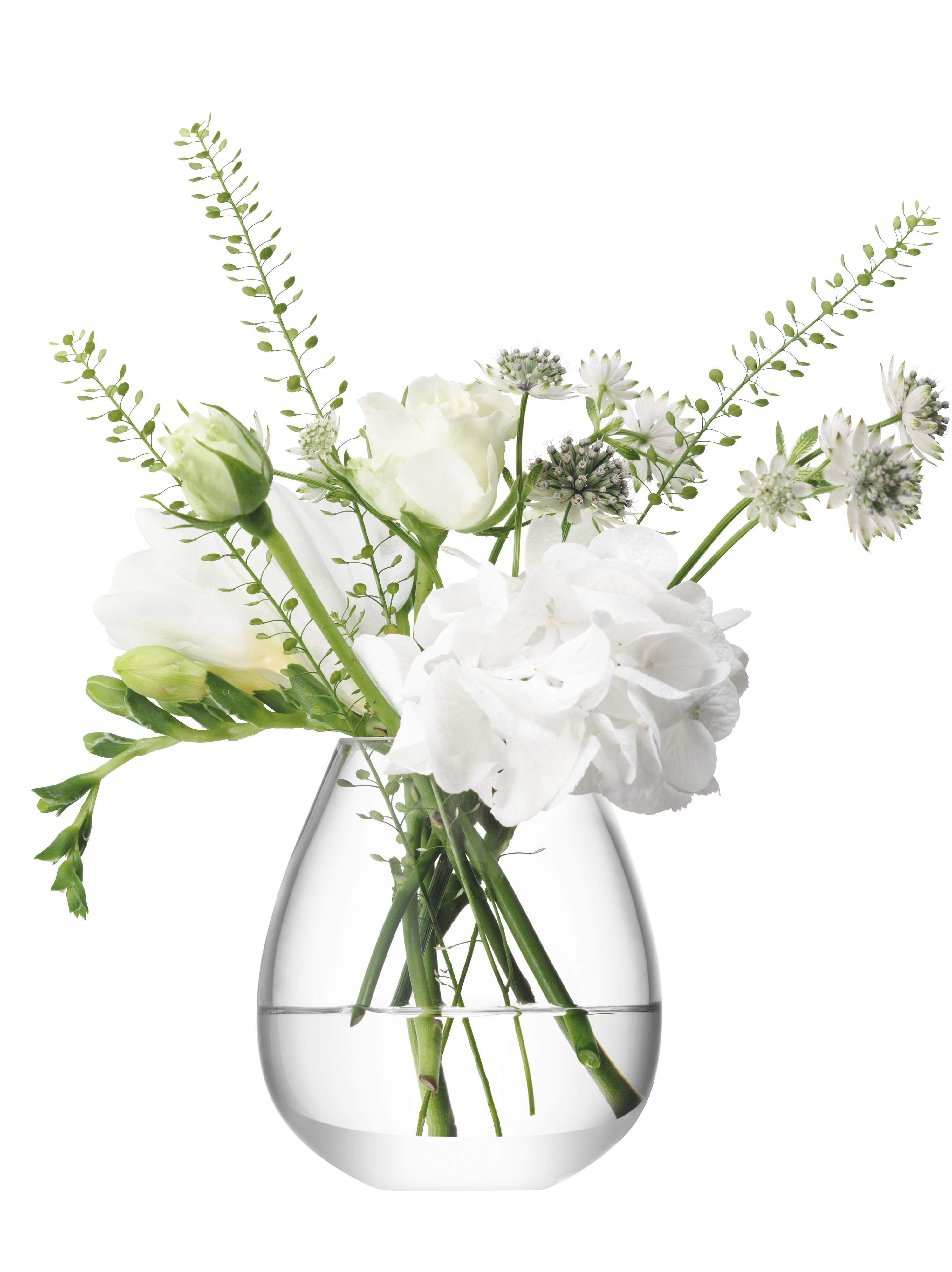Flower mini table vase height 9.5cm in clear