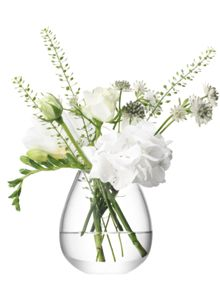 LSA Flower mini table vase height 9.5cm in clear
