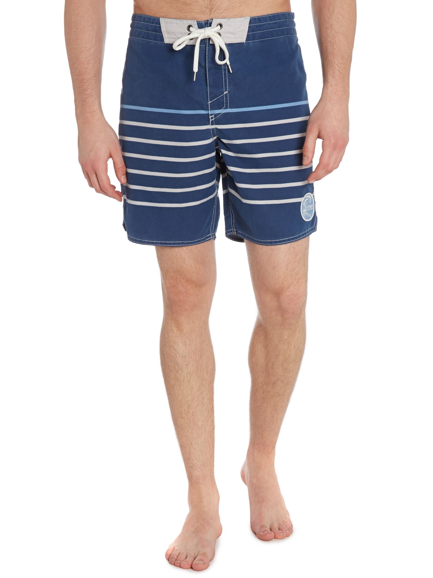 Naval stripe board shorts