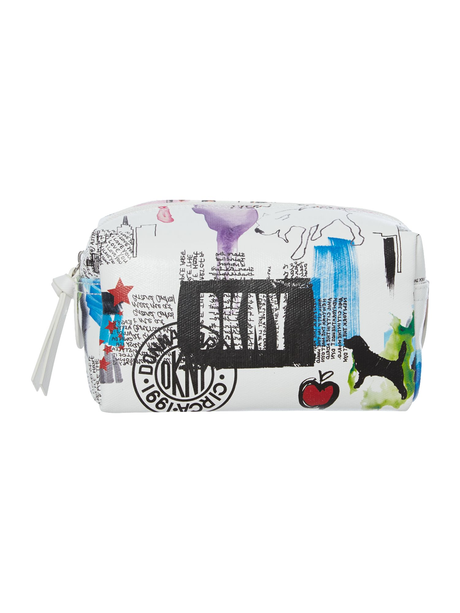 Multi-coloured print pouchette