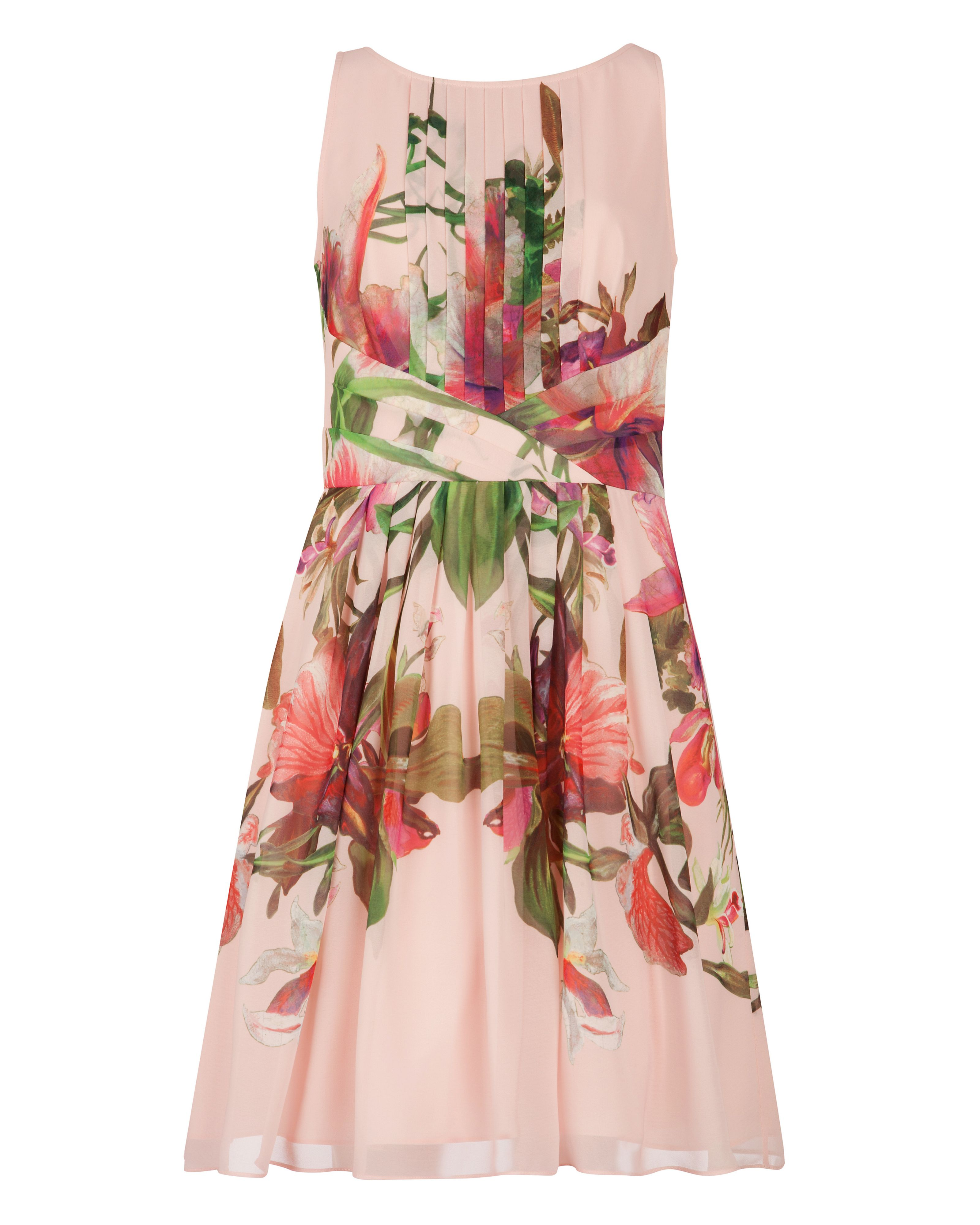 Carlii symmetrical orchid floral dress