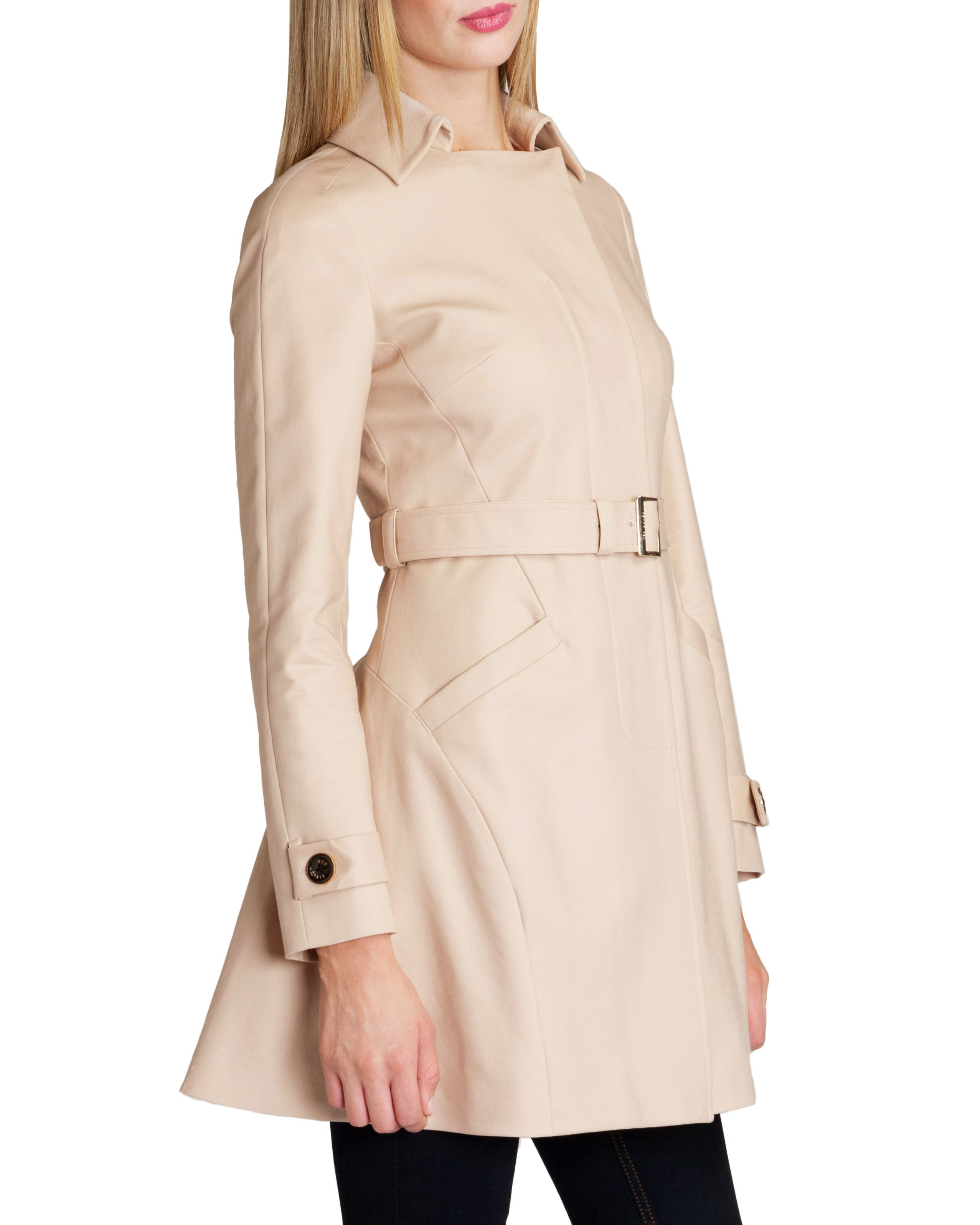 Meeliye panelled trench coat
