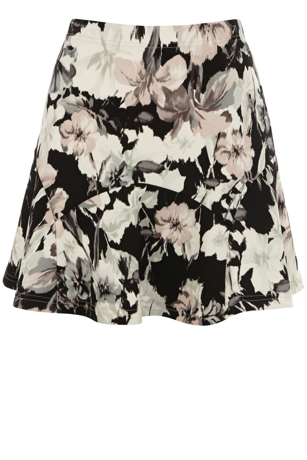 Blurred lily print skirt