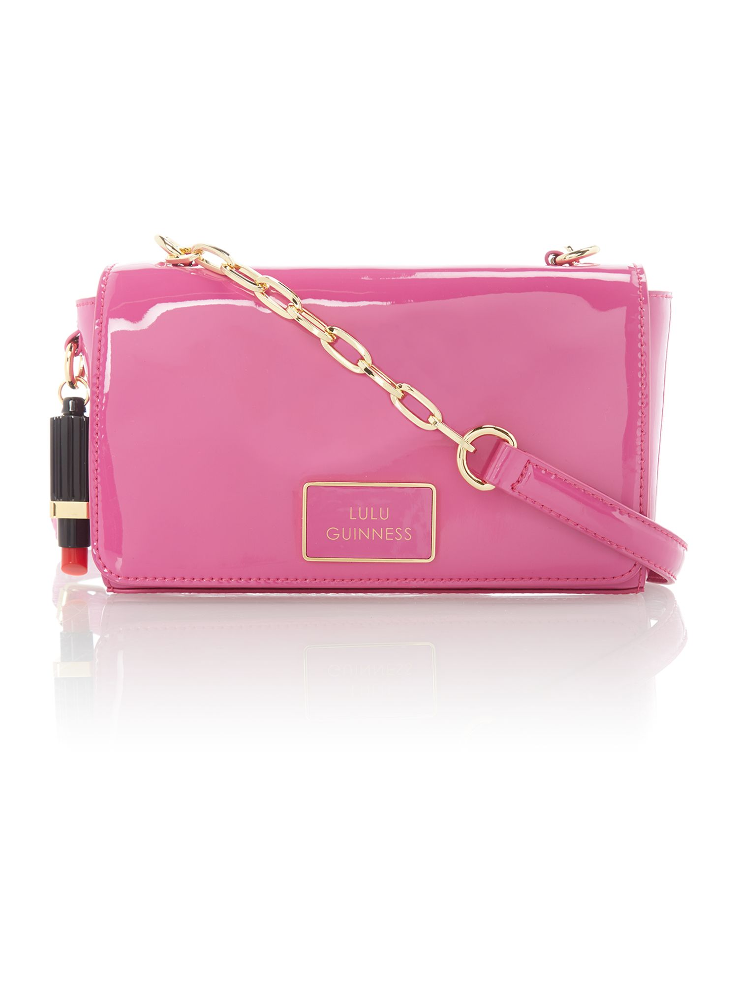 Verity pink patent crossbody bag
