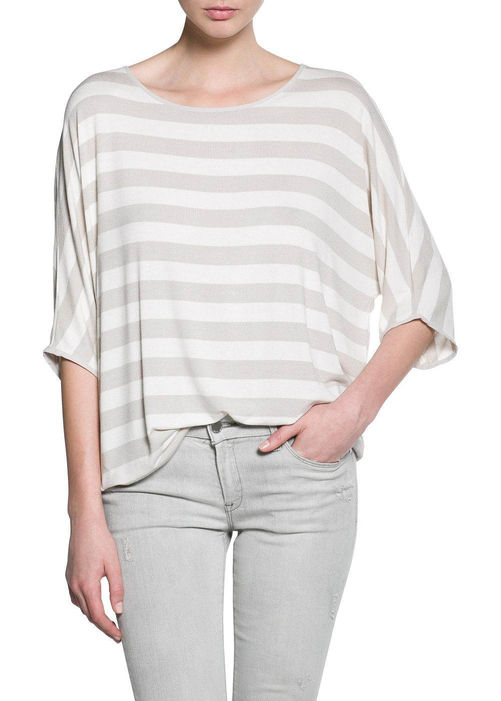 Striped monochrome t-shirt