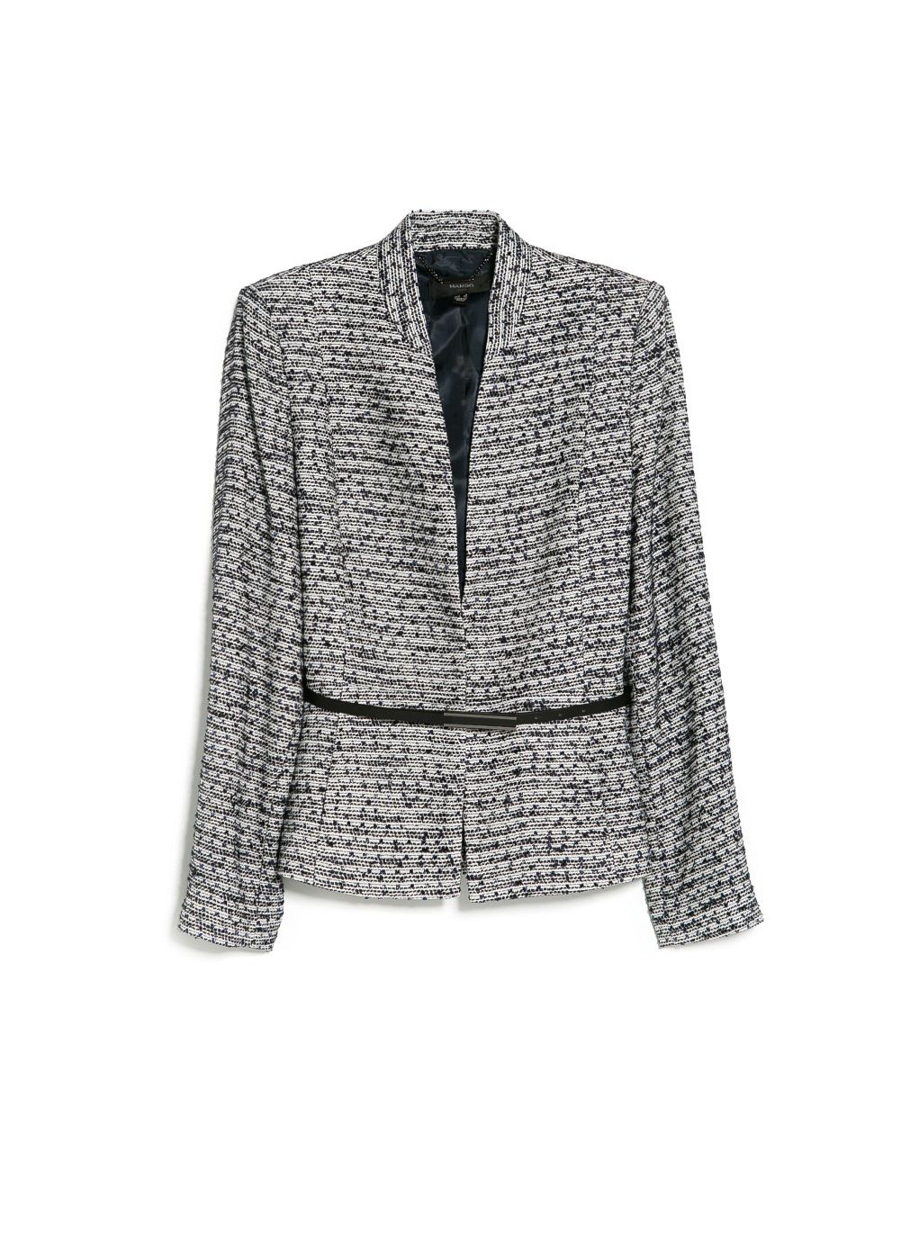 Belt jacquard jacket