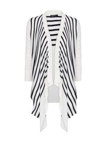 Bicolour striped cardigan