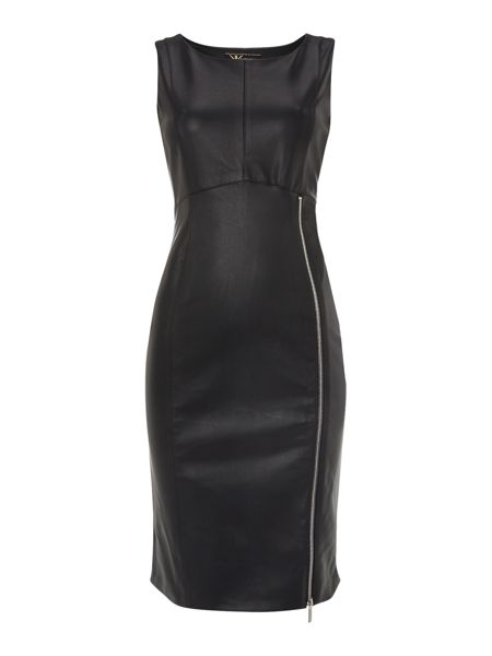 Lipsy Kardashian Kollection PU bodycon dress