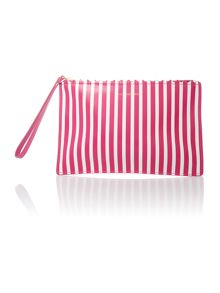 Pink small stripe pouchette