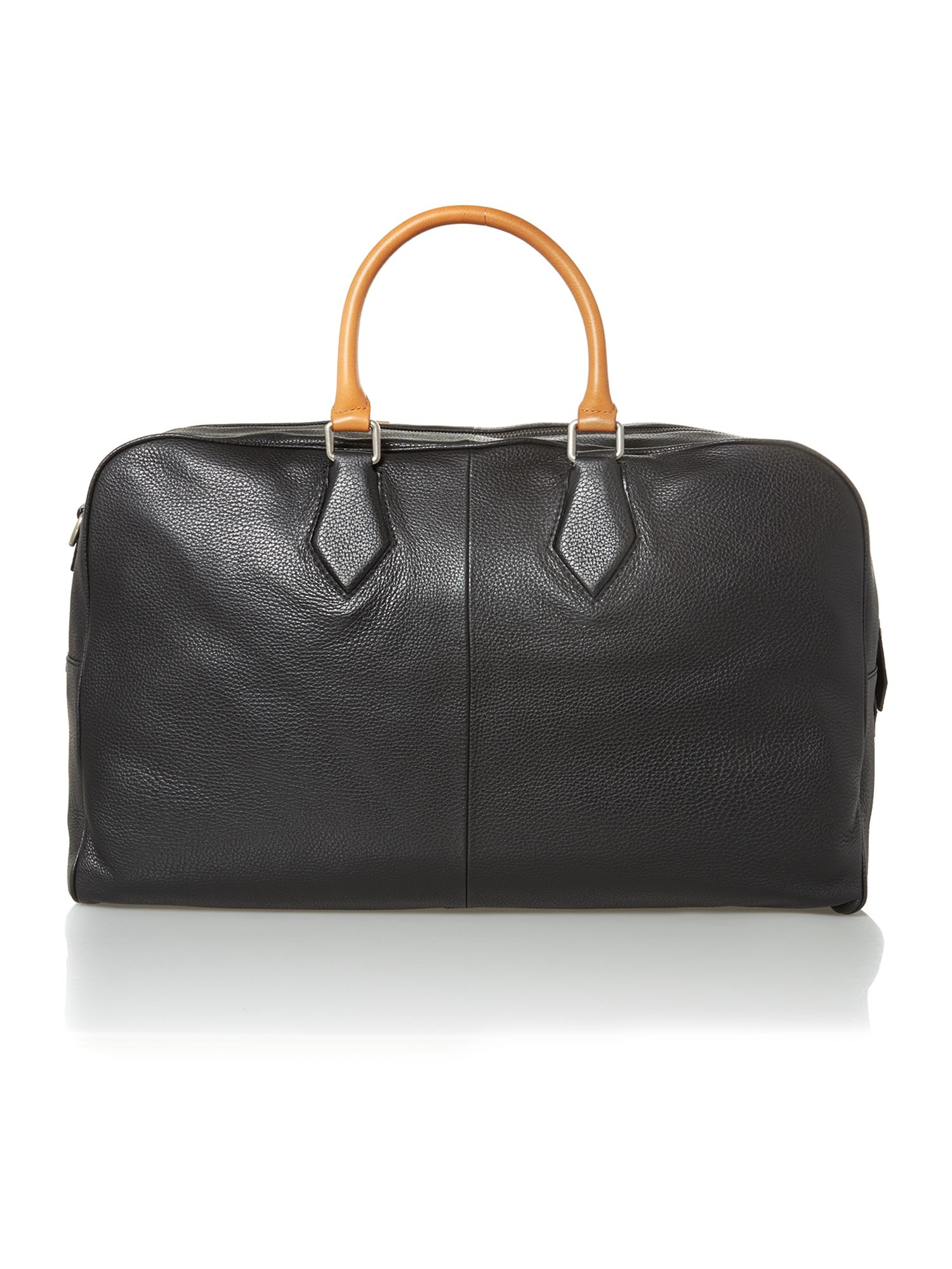 Leather orb weekender bag