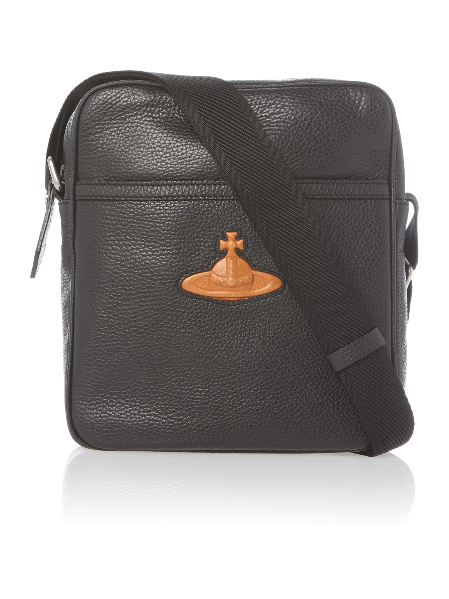 Leather orb logo man pouch
