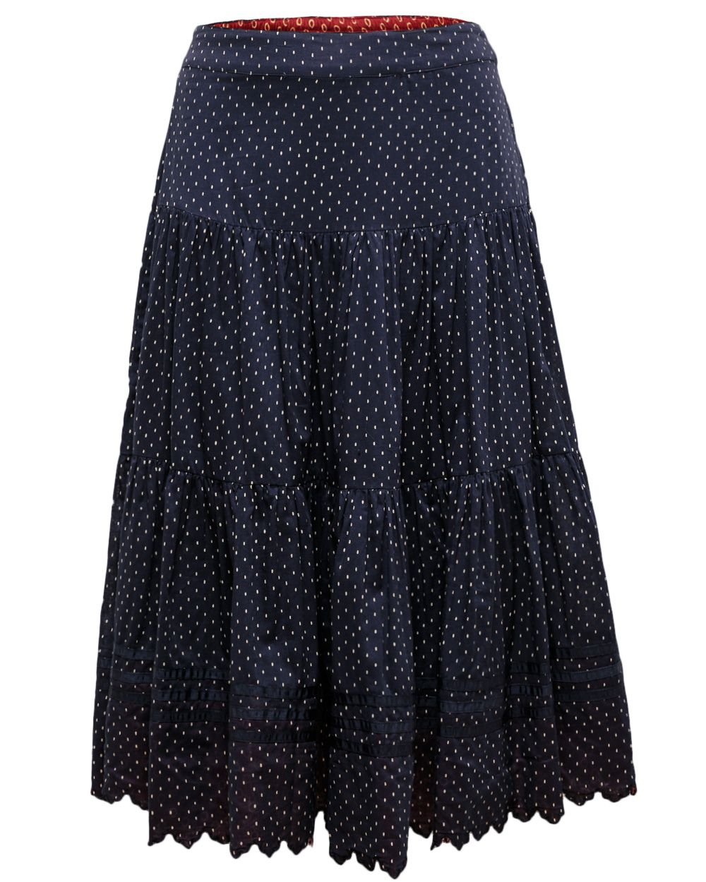 Emi print tiered skirt