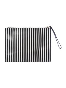Black medium stripe pouchette