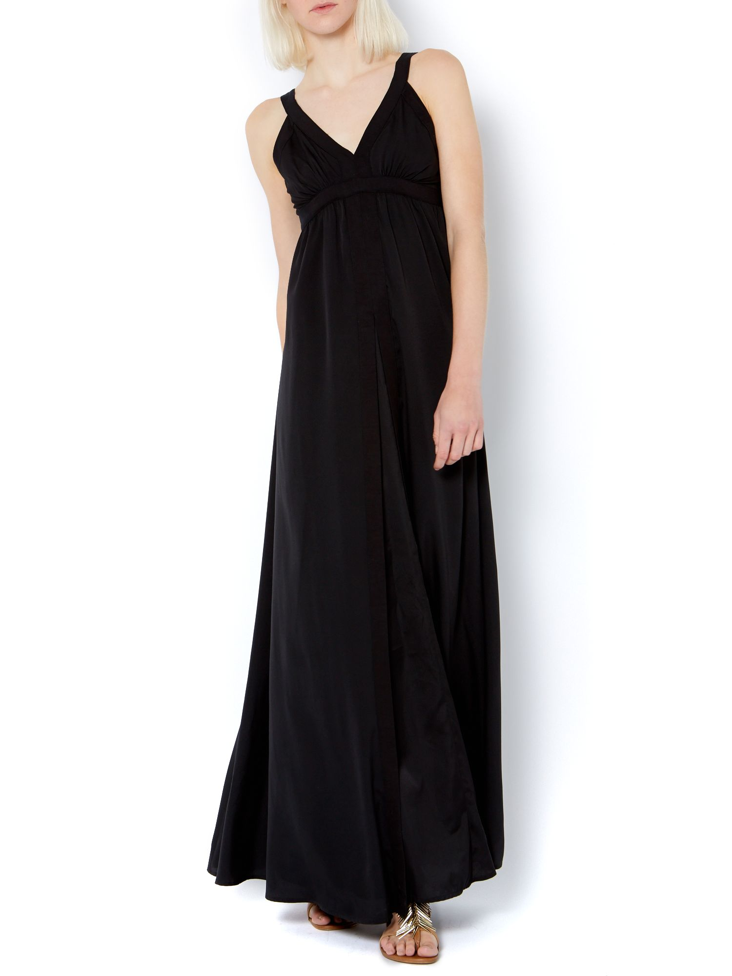 Empire line woven maxi dress