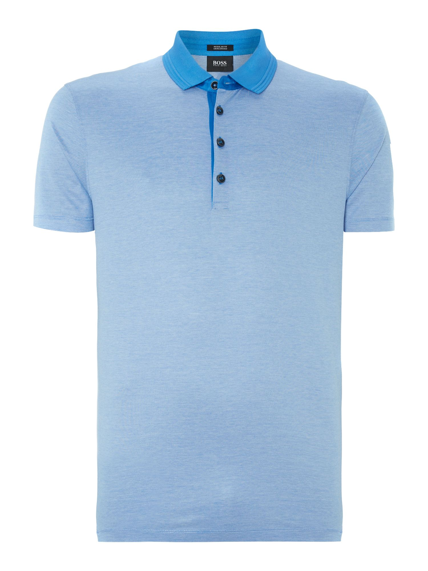 Mercerised fine line polo shirt