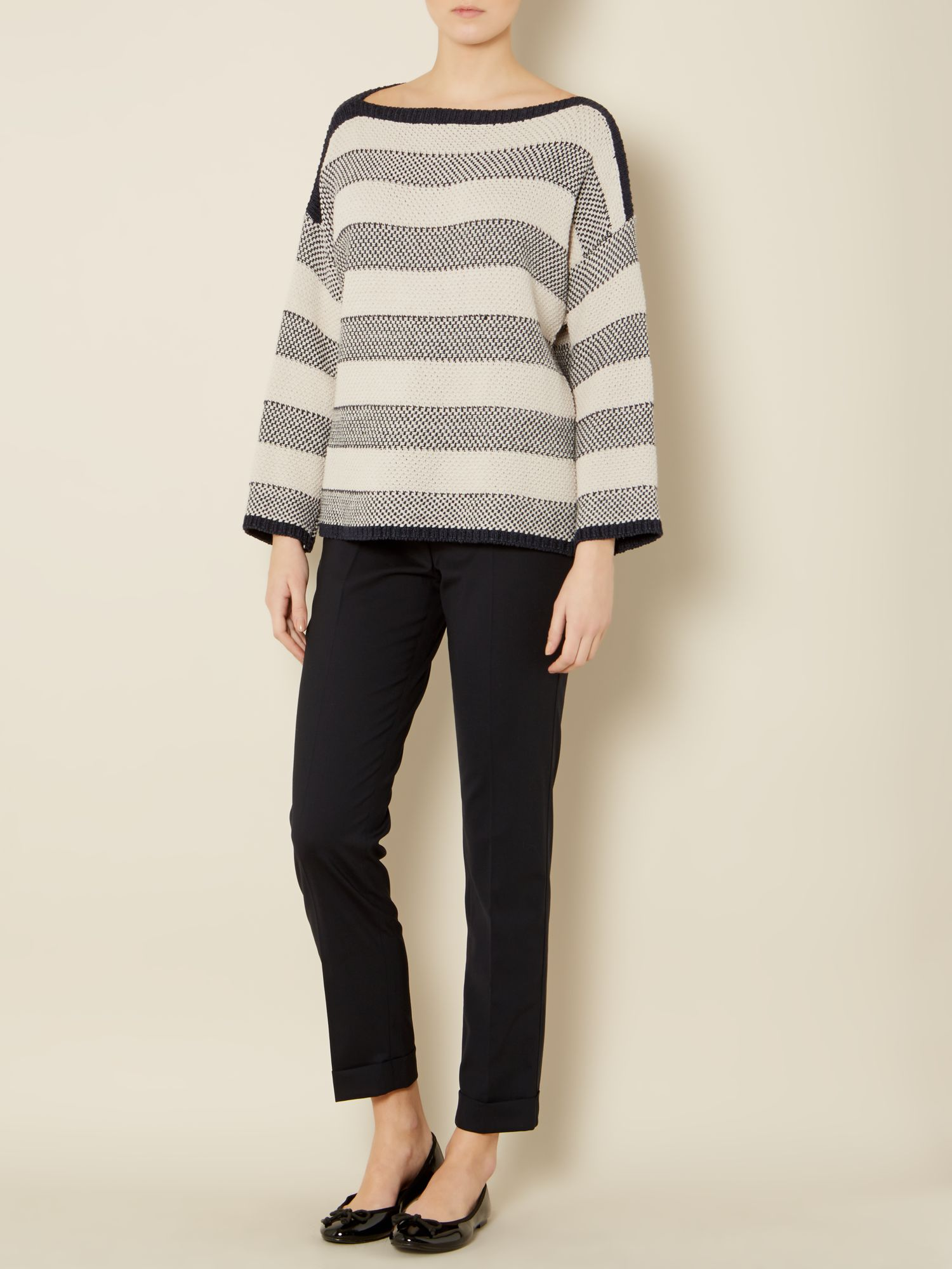 Empoli knitted oversized striped jumper