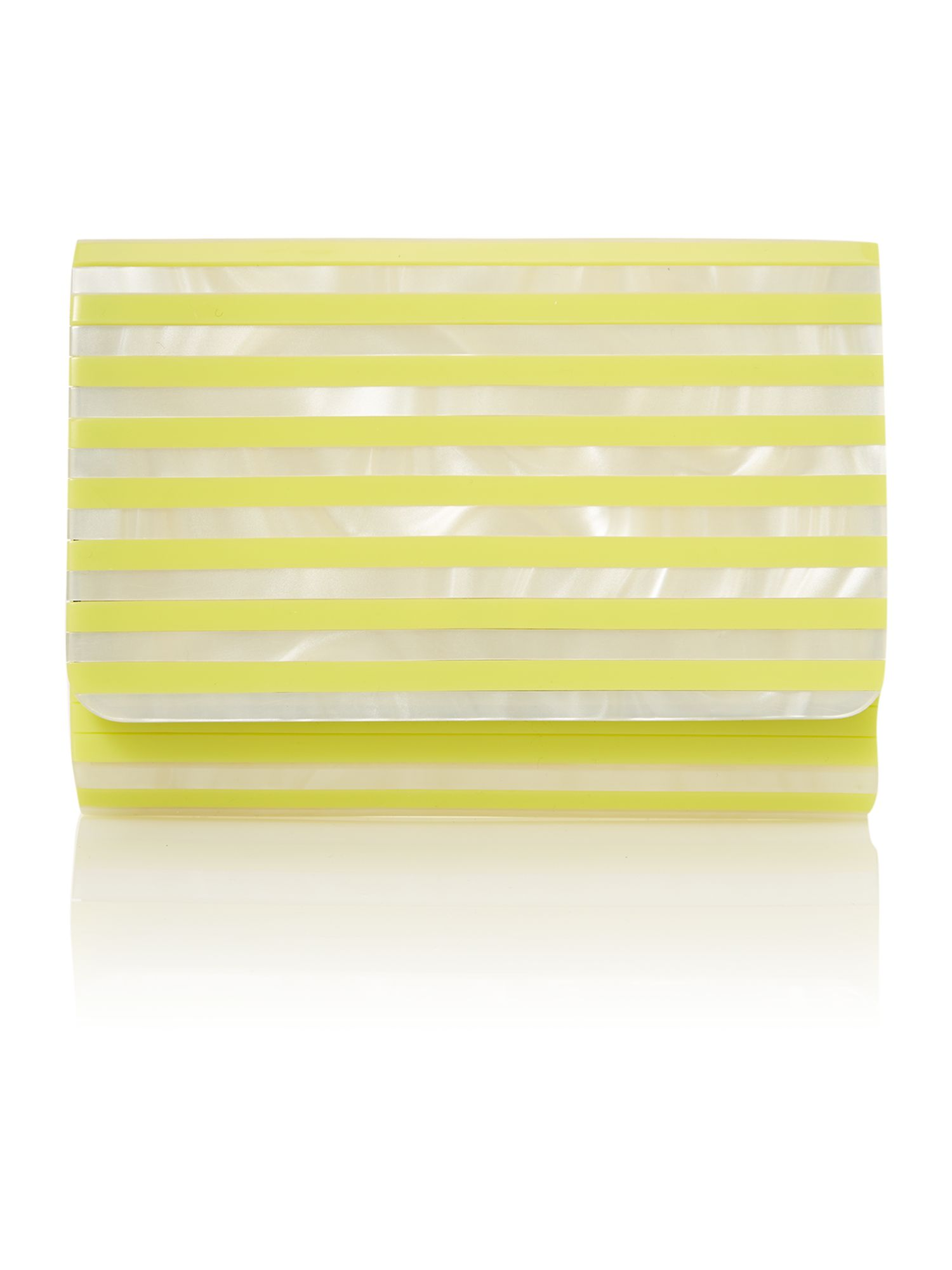 Natalia yellow clutch bag