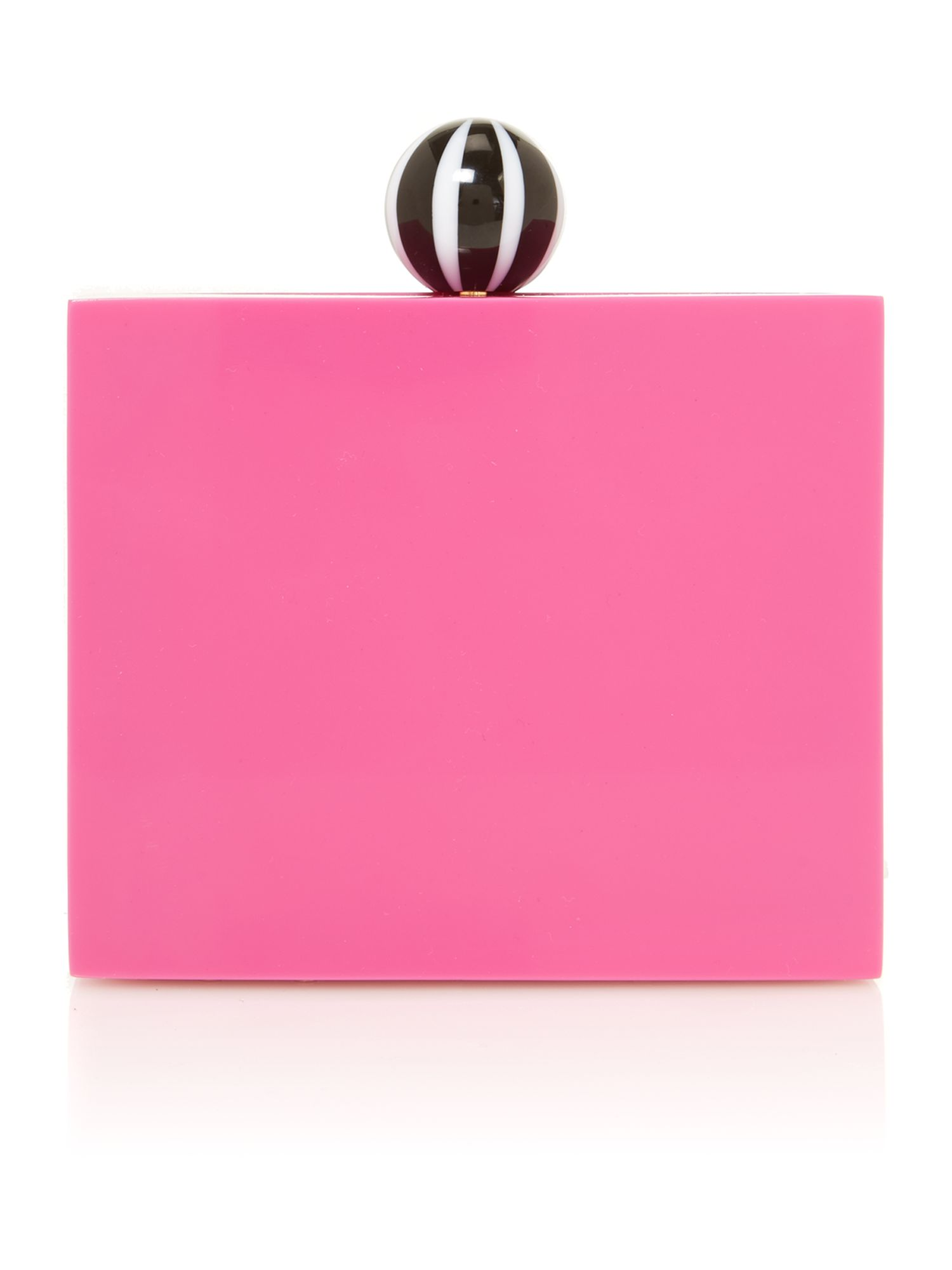 Chloe pink box clutch