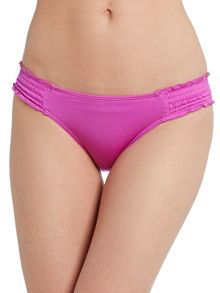 Seafolly Shimmer shirred hipster bikini brief