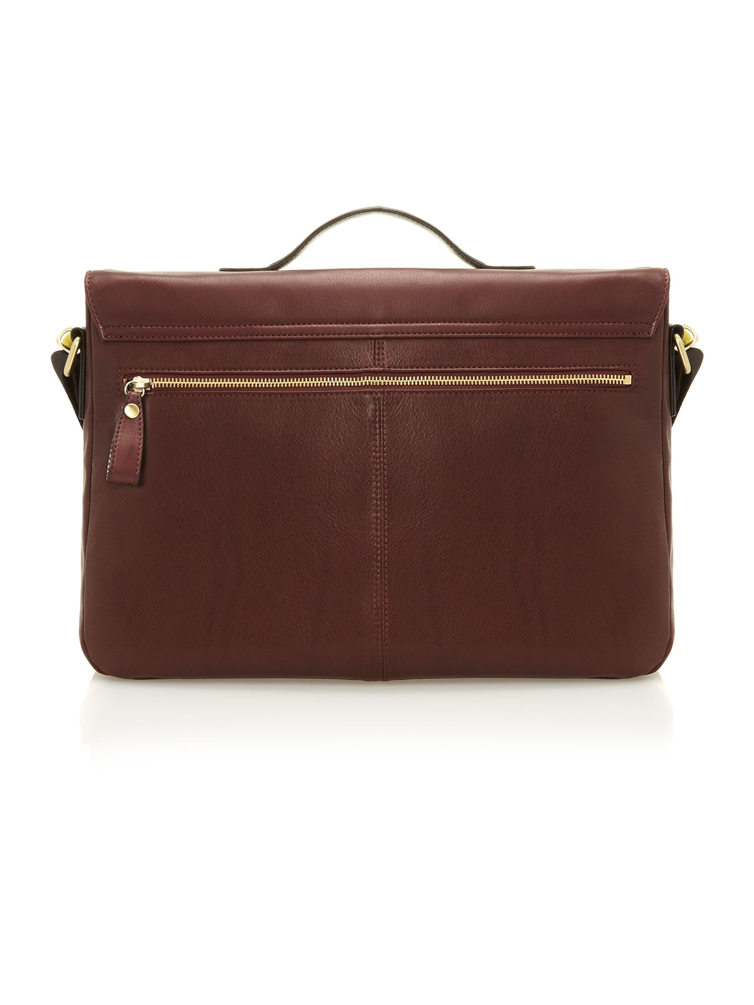 Contrast leather messenger bag