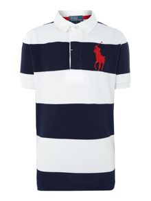 Boys wide stripe polo