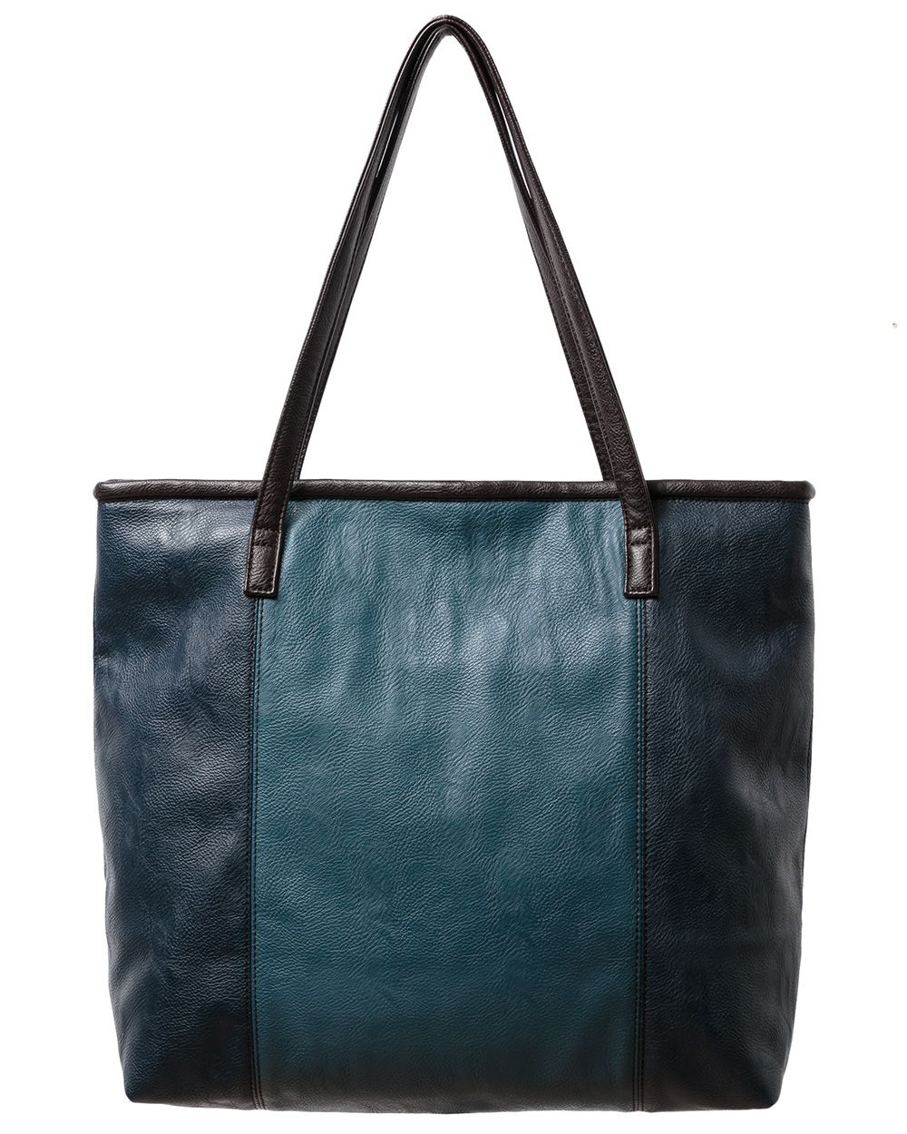 Pu colour block panel tote