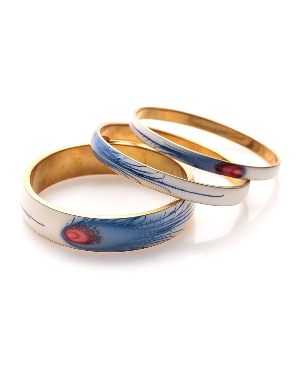 Peacock bangle set