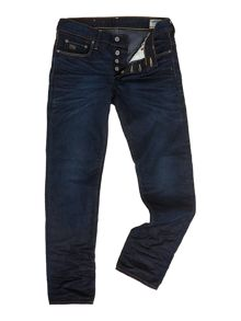 3310 low tapered hydrite dark aged jean