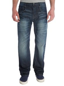 New radar low loose fit memphis dark aged jean