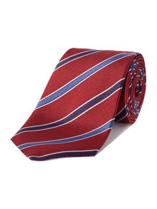 Dovenham college stripe silk tie