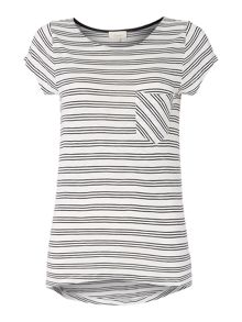 Triple stripe tee