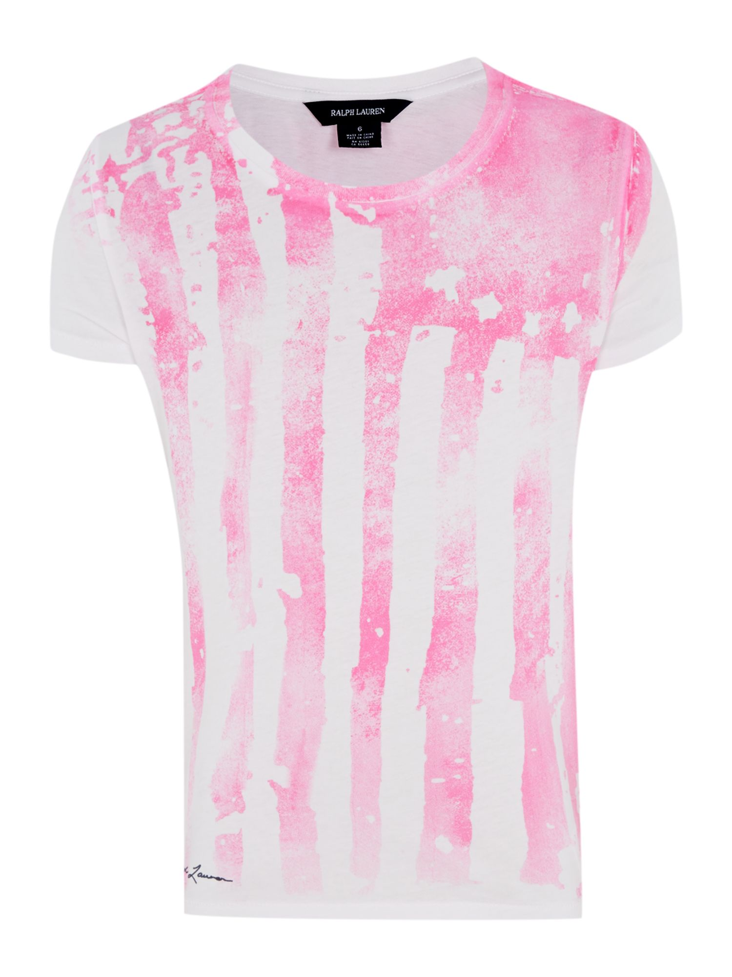 Girls neon America t-shirt