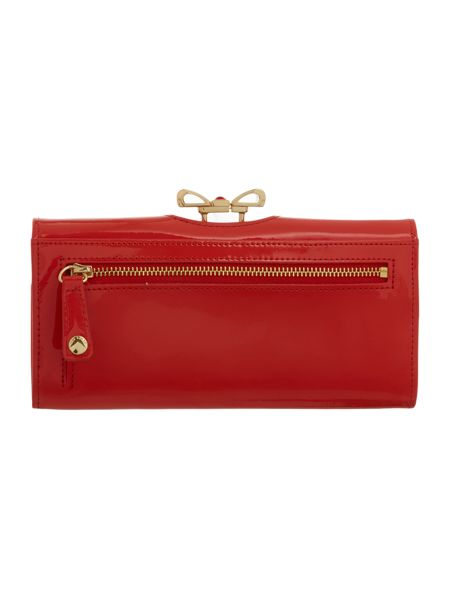 Ted Baker Red large bow flapover purse