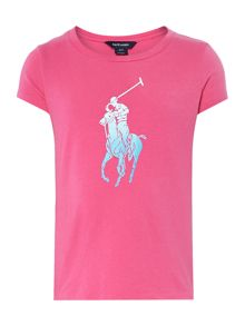 Girls large pony logo t-shirt
