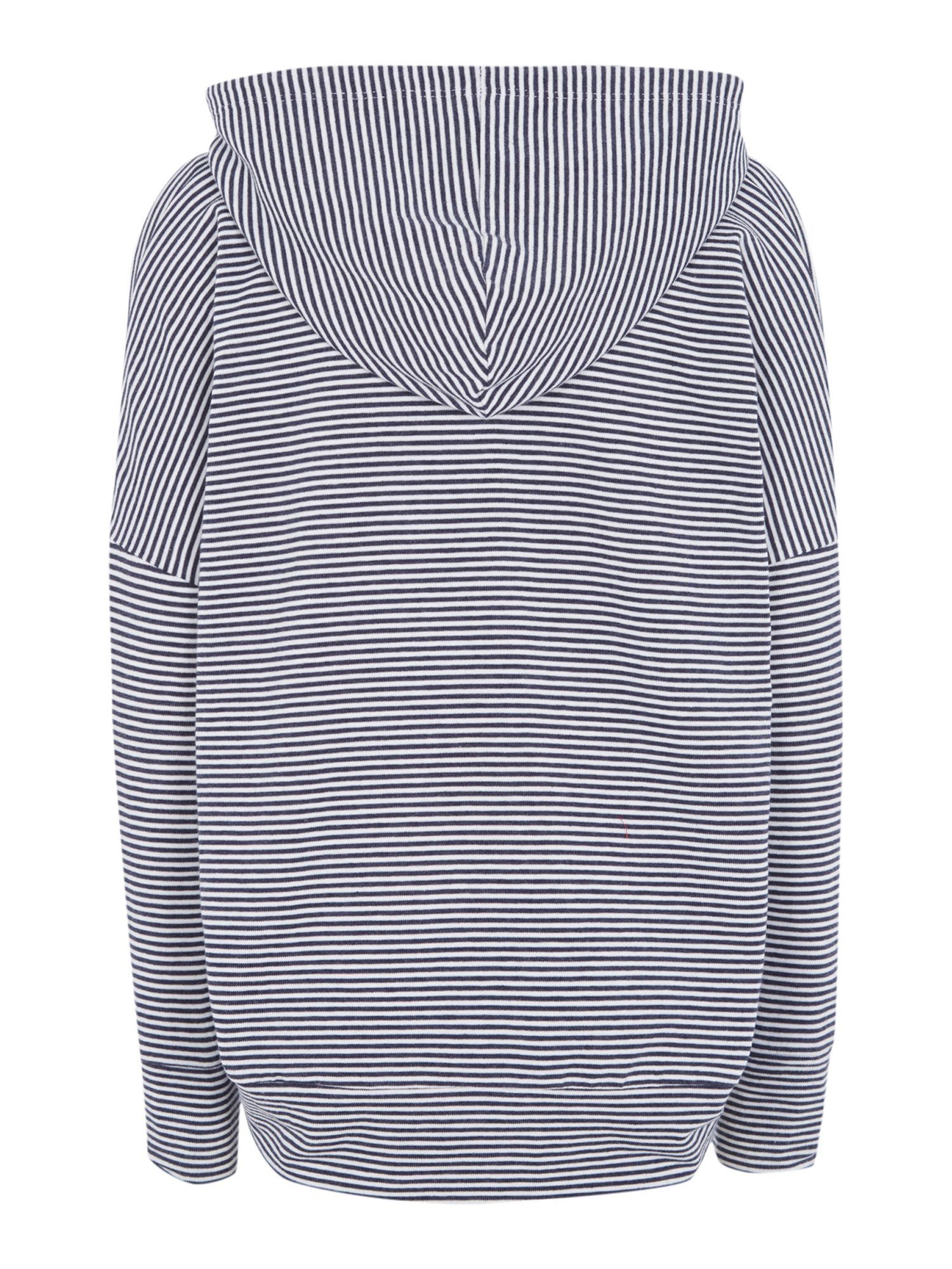 Girls stripe sweat with small pony logo