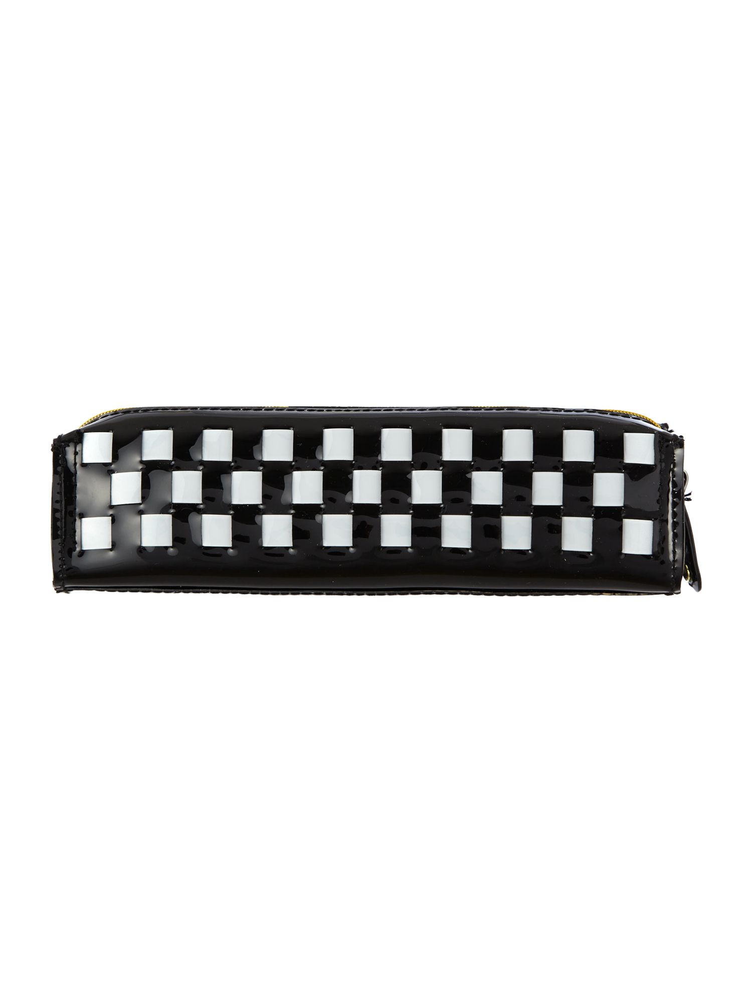 Black bow weave pencil case