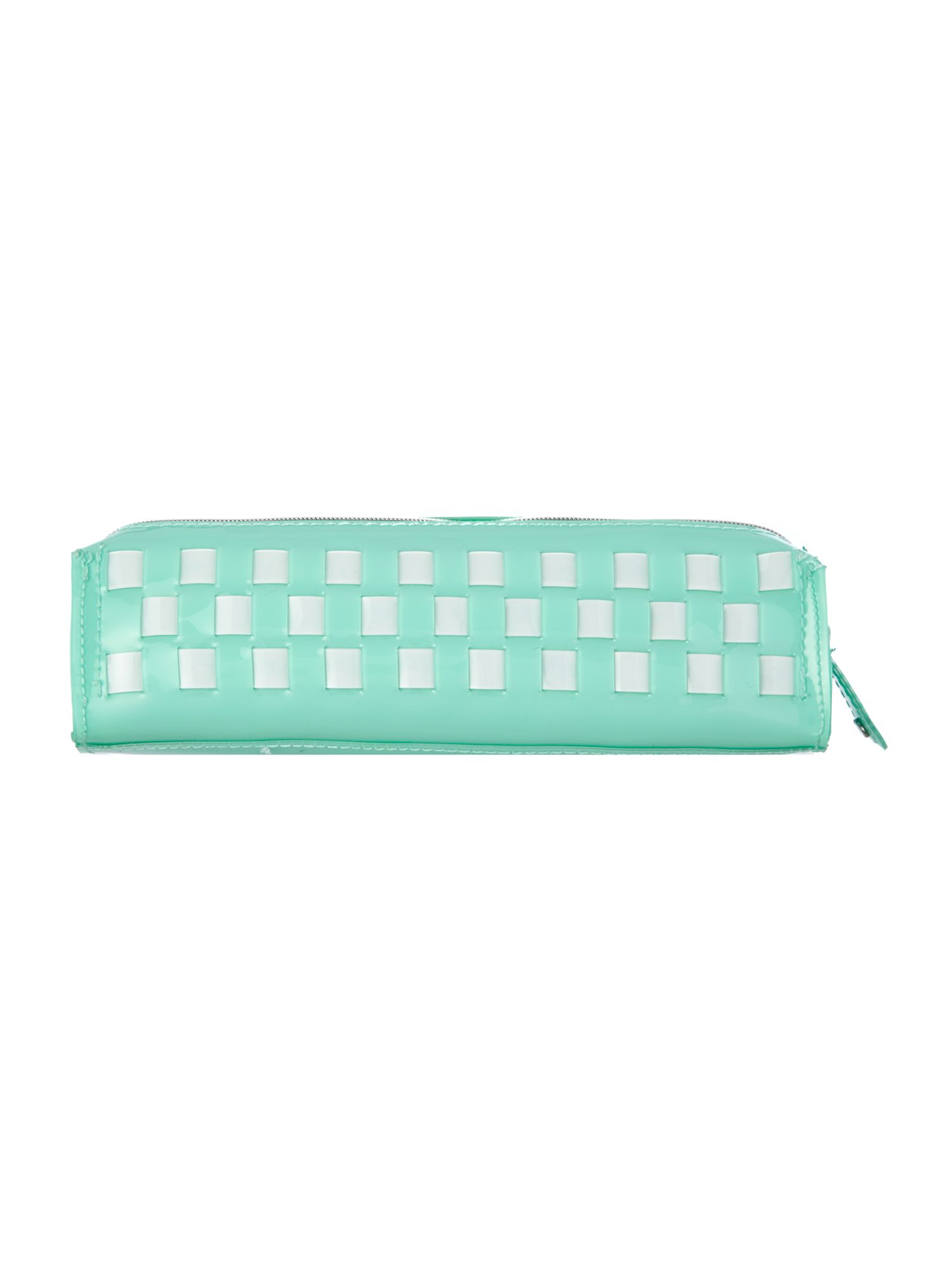 Green bow weave pencil case