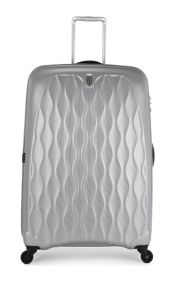 Liquis embossed silver 4 wheel hard large case