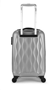 Antler Liquis embossed silver 4 wheel hard large case