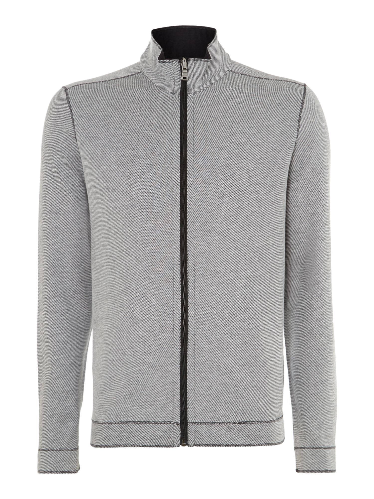 Pima cotton zip up sweatshirt