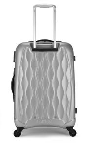 Liquis embossed silver 4 wheel hard medium case