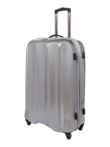 Tiber silver 4 wheel soft large rollercase