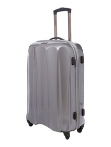 Tiber silver 4 wheel soft medium rollercase