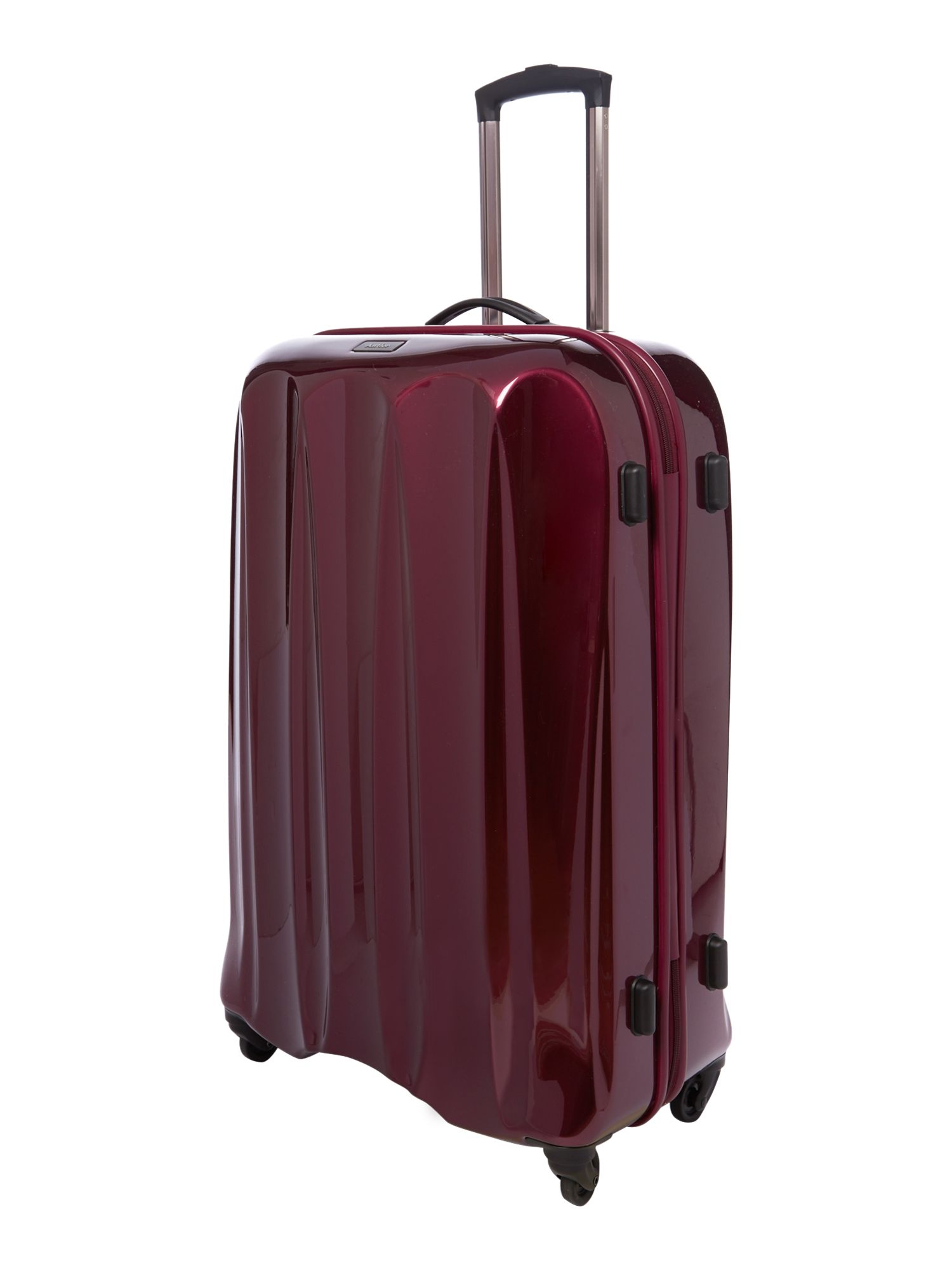 Tiber plum 4 wheel soft large rollercase