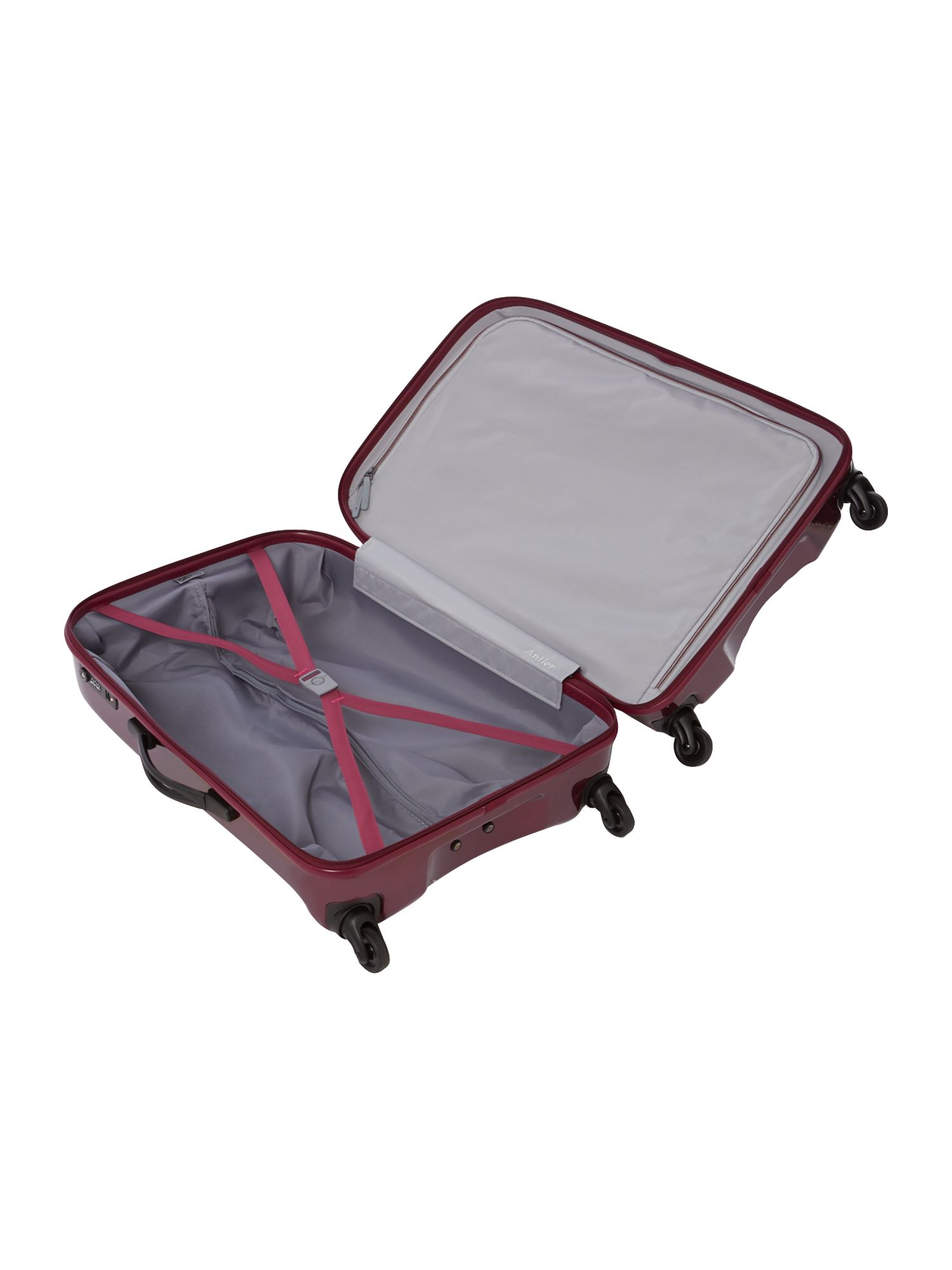 Tiber plum 4 wheel soft medium rollercase