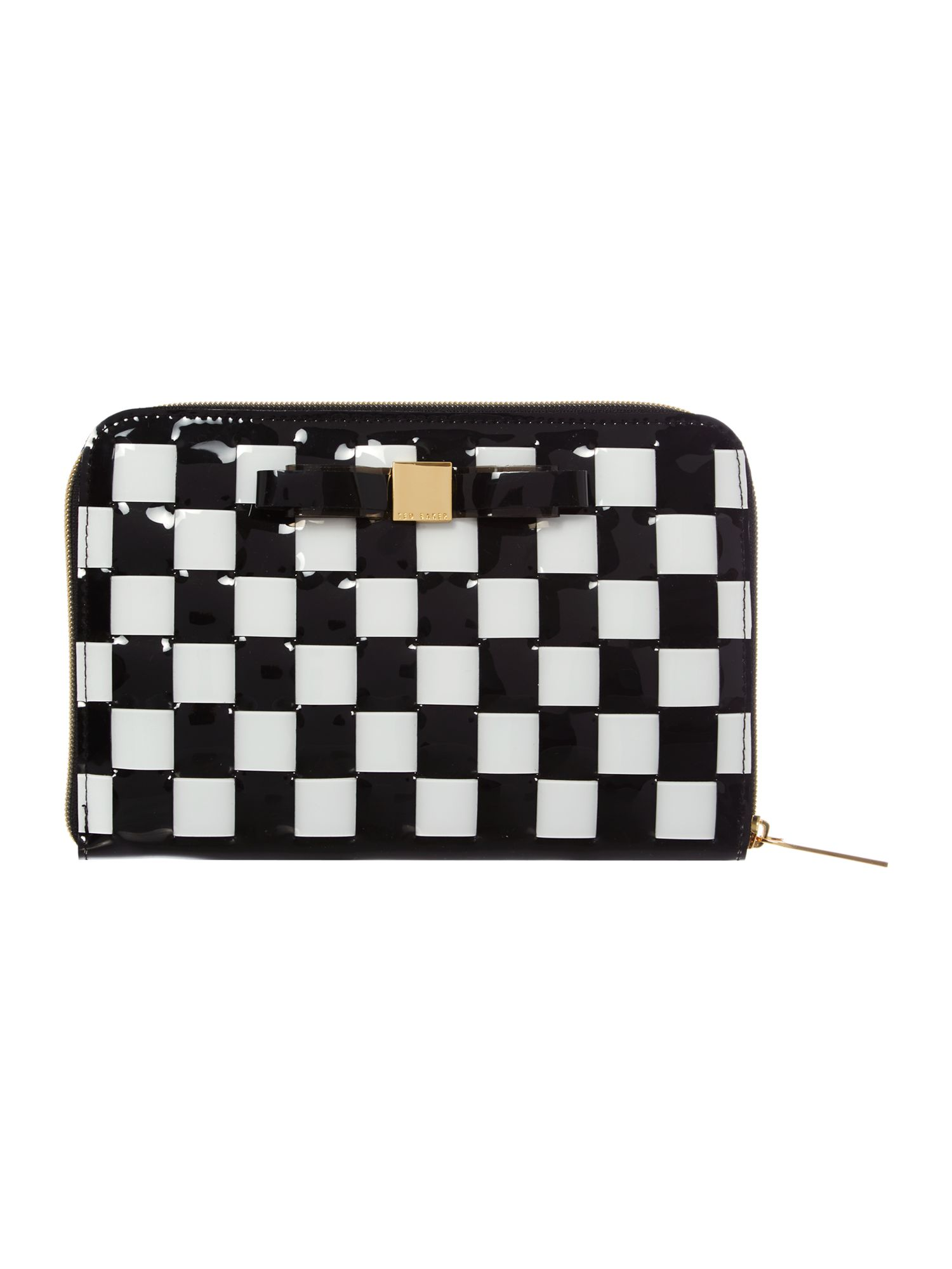Black bow weave ipad mini case