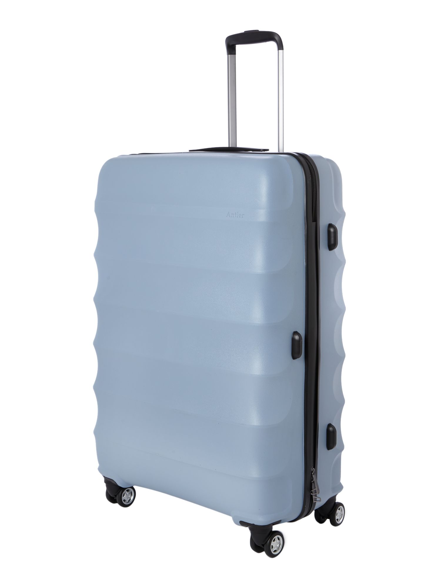 Juno 4 wheel pale blue hard large rollercase